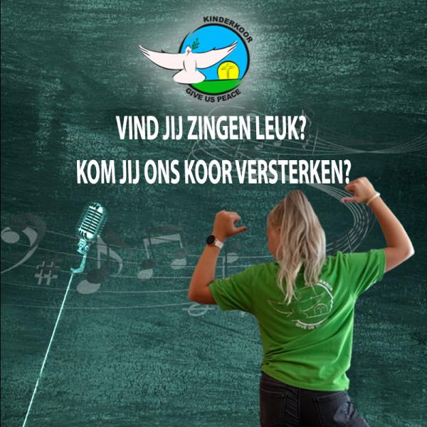 Kinderkoor Give Us Peace zoekt nieuwe zangers en zangeressen!