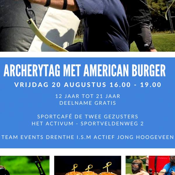 Archery Tag met American Hamburger