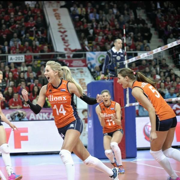 Dames volleybal Nederland - Turkije
