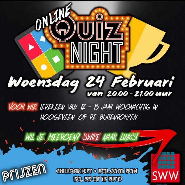 Online Quiz Night  voor 12 t/m 15 jaar